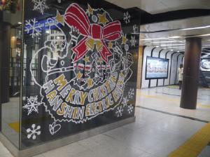 神戸三宮駅の装飾(昨年)