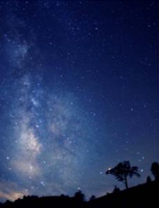阿智村から見える夜の星空