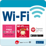 「Metro_Free_ Wi - Fi」・「Japan Connected - free Wi-Fi」車内ステッカー イメージ