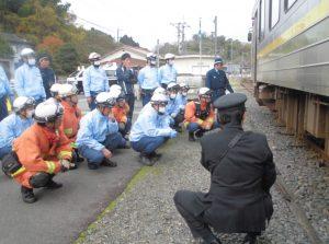 木次鉄道部 人身事故対応訓練