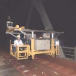 橋りょうまくらぎ測量装置