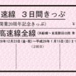 東葉高速線 開業20周年3日間きっぷ