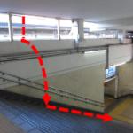 落下場所(通路階段部)