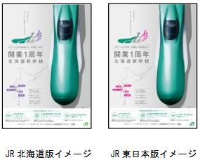 北海道新幹線をキー ビジュアルとしたポスター