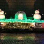 盛岡駅 ミニかまくらと雪だるま