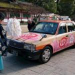 ラッピングタクシー「受験にキットカット号」(昨年)