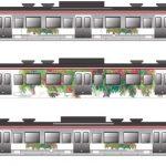「イイヅナのリンゴ」ラッピング列車