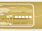 特製しおり(金属製/300系モチーフ)8.7cm×3.0cm