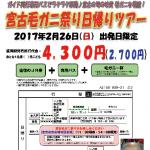 「宮古毛ガニ祭り日帰りツアー」チラシ