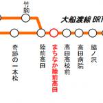 大船渡線 BRT 路線概要図