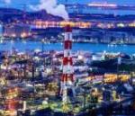 水島コンビナート 工場 夜景