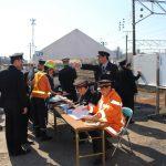 山口地域鉄道部 列車事故総合訓練
