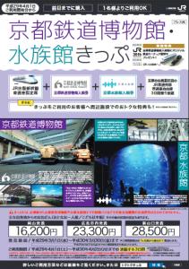 「京都鉄道博物館・水族館きっぷ」チラシ