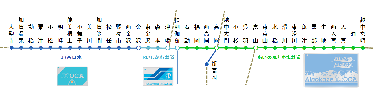 <富山・石川ICOCAエリア>