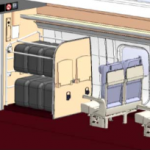 東北・北海道新幹線E5系、H5系車内荷物置場イメージ