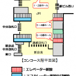 松戸駅のバリアフリー工事