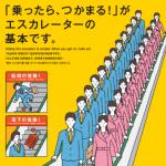 エスカレーター「みんなで手すりにつかまろう」キャンペーン ポスター